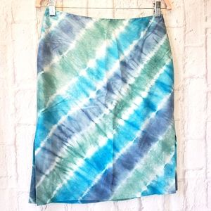 RALPH by RALPH LAUREN Tie-dye Silk Skirt